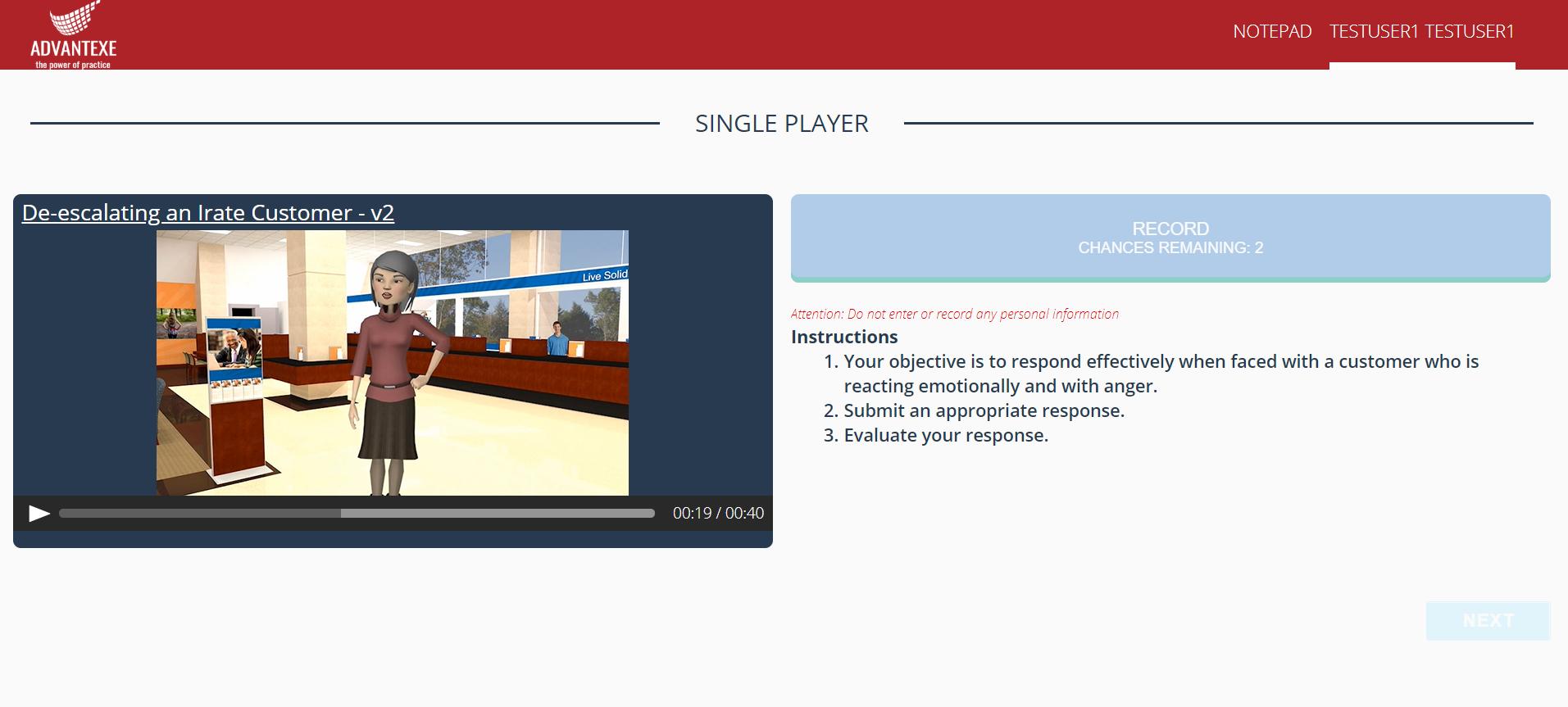 single-player-screen-praction